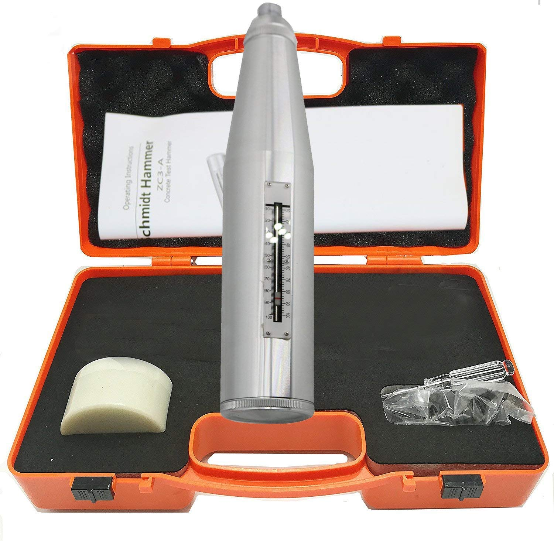 VTSYIQI ZC3-A Concrete Rebound Test Portable NDT Resiliometer Suitable for Concrete Component Strength Test Concrete Rebound Hammer Tester, White