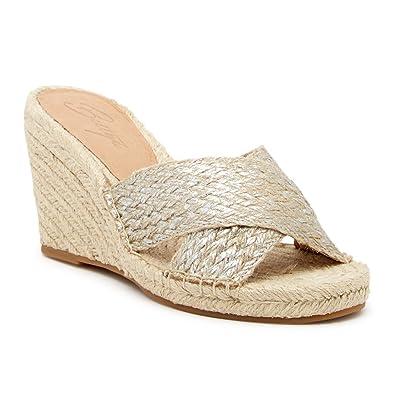 369e0017951 Bettye Muller Hanna Jute Rope Wedge Sandal Silver (10)