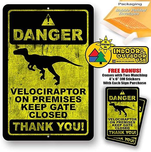 Dinosaur dilophosaurur fossils Metal Tin Signs Retro Poster Art Wall Decor