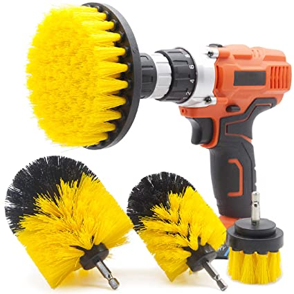 Cleaning Products 4pcs Power Scrubber Drill Brush Cleaning Supplies Set Kit For Bathroom Kitchen