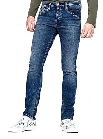 0f3b7bc309325 Pepe Jeans Pantalon Vaquero Track Gymdigo 3434 Azul  Amazon.es  Ropa y  accesorios