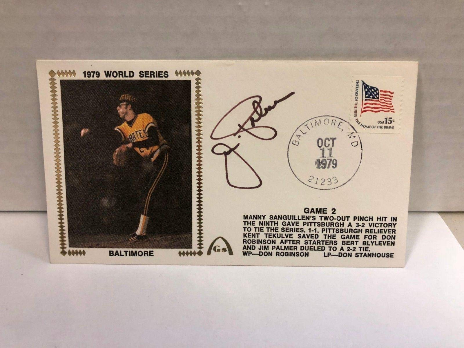 Jim Palmer Autographed Signed Original Silk Cachet First Day Issue COA JSA Certified MLB Cut Signatures