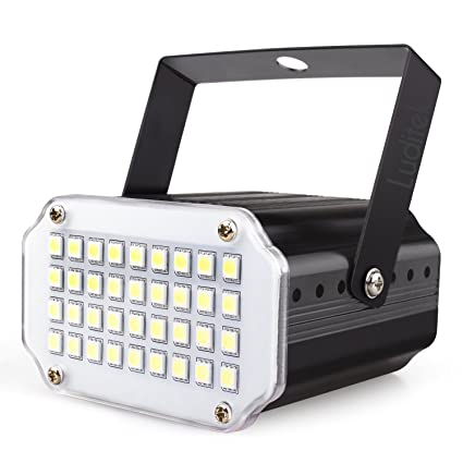 Mini Halloween White Led Strobe Light Sound Activated And Flash Speed Control Party Light With