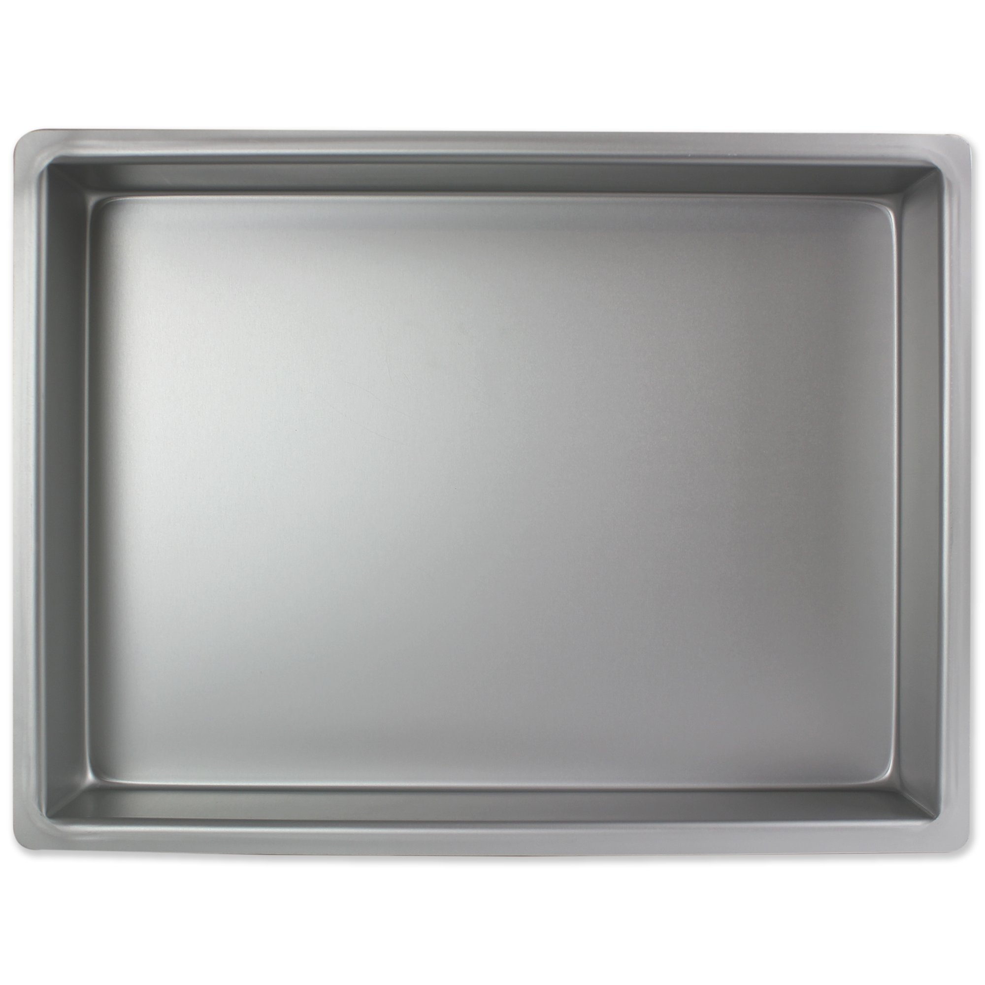 PME Professional Aluminum Oblong Cake Pan (12 x 18 x 4), Standard, Silver