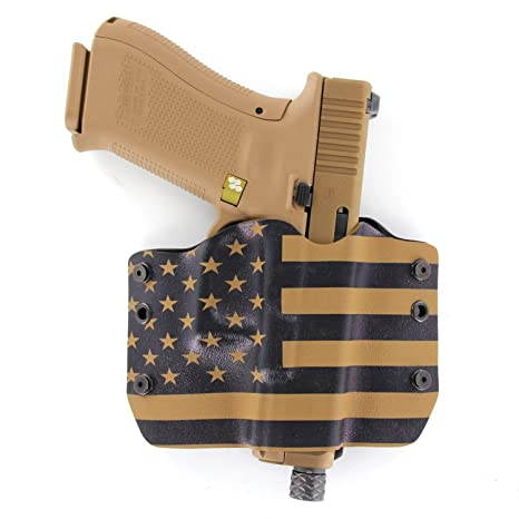 Outlaw Holsters: USA Coyote Tan - OWB Kydex Holster for Glock  17,19,22,23,25,26,27,28,31,32,34,35,41-19X,17,19,26 Gen5 - GEN 5 Compatible