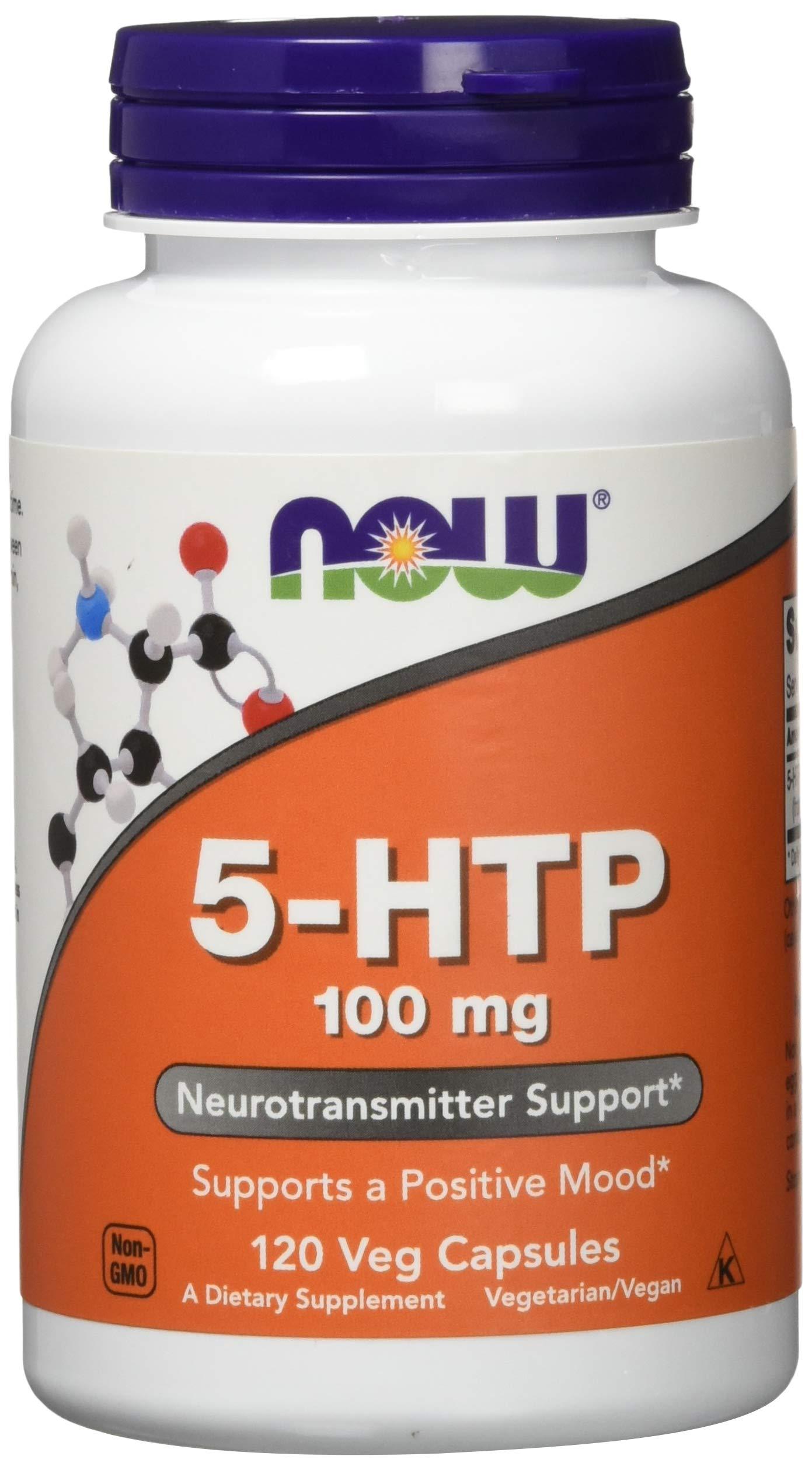 NOW 5-HTP 100 mg,120 Veg Capsules