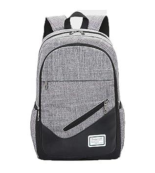 Hemio Unisex Backpack Lona Bolsa de Estudiante Amplias Mochilas Escolares Juvenil Simple Mochilas Amplias Mochila Diaria: Amazon.es: Equipaje