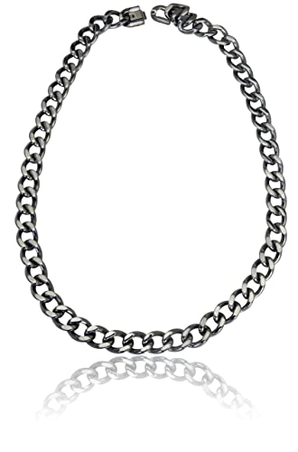 Mens Stainless Steel Chunky Curb Link Necklace 20