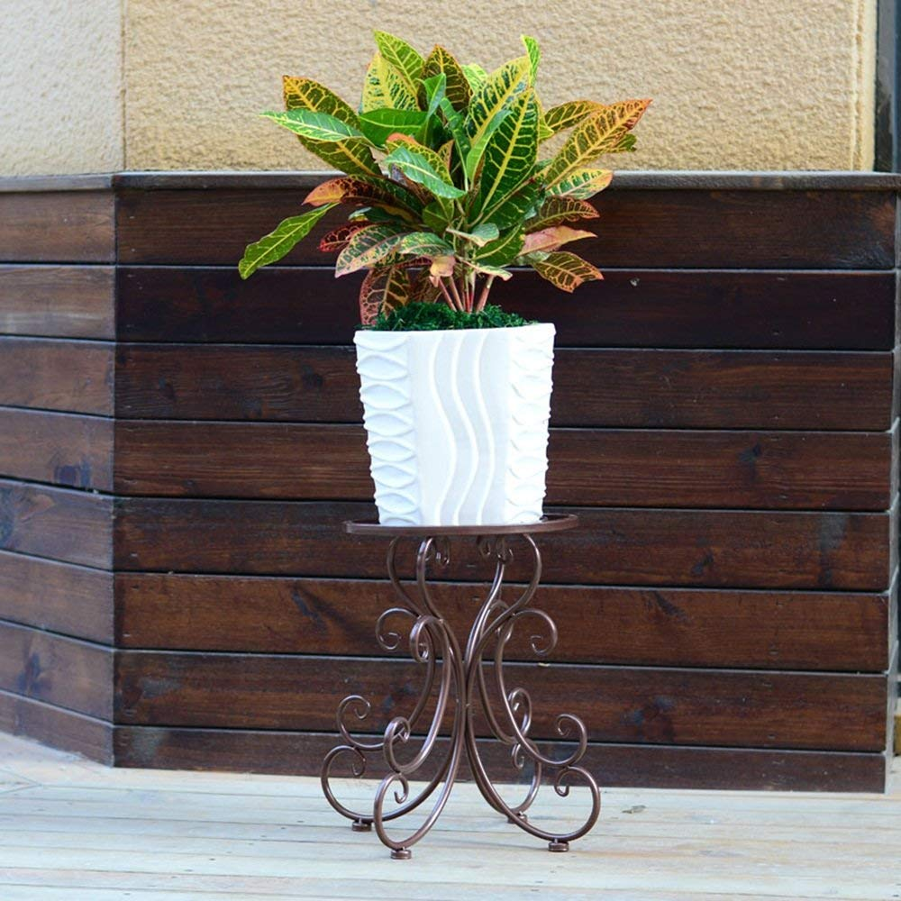 WI Flower Stand-Flower Rack Floorstanding Iron Art Living Room Balcony Indoor and Outdoor Green Plant Flower Stand(Color Multiple Choice),2 by WI