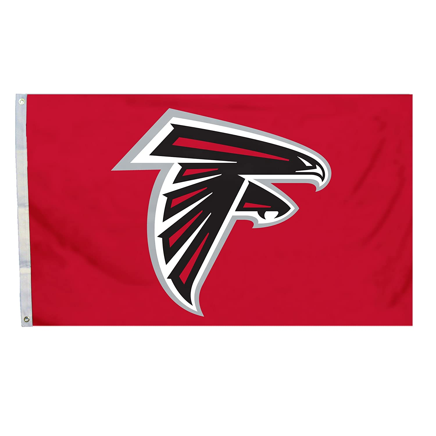 Amazon Com Nfl Atlanta Falcons Flag With Grommetts  Feet Sports Fan Wall Banners Sports Outdoors