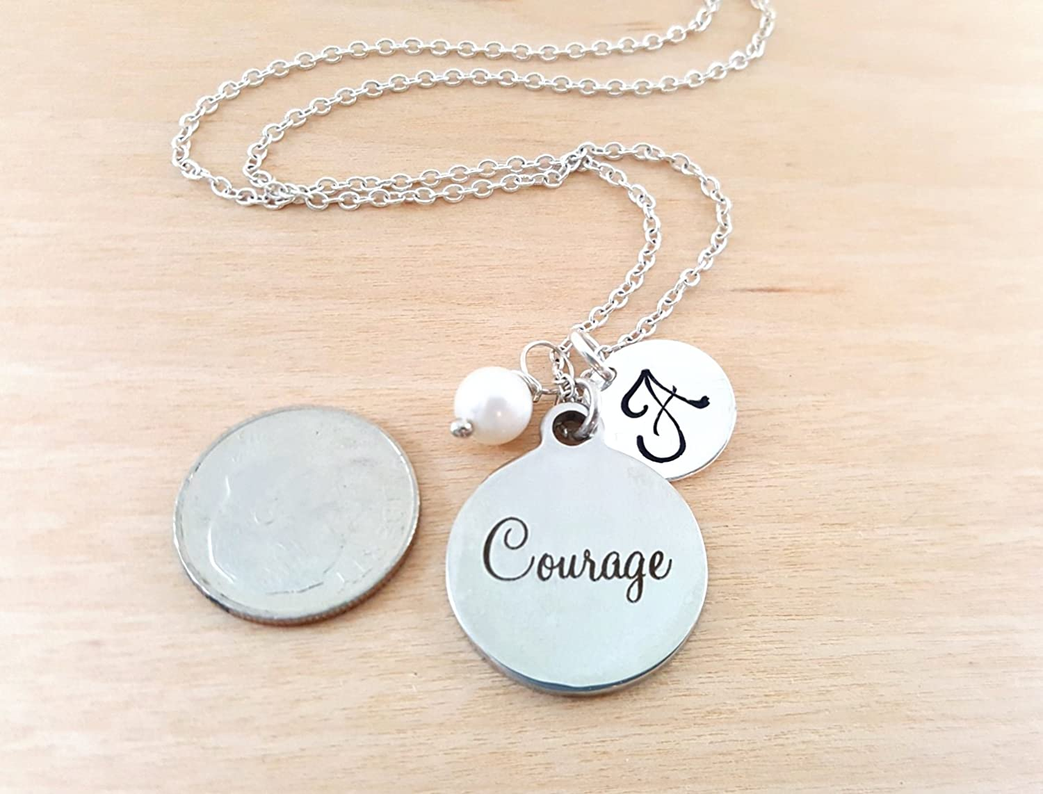 product girl says courage pendant wood kind healthy round living be with that have and necklace silver