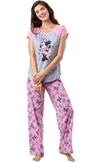 Disney Women s Belle Long Sleeve Pajama 2 Piece Set with Eye Mask at ... c36c8fe3a