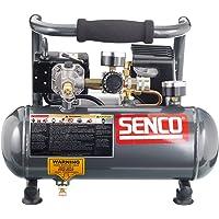 Senco PC1010 1-Horsepower Peak, 1/2 hp running 1-Gallon Compressor,Gray/Red