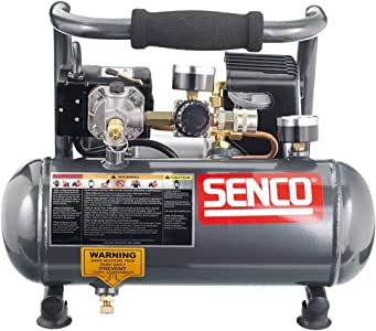 Senco PC1010 1-Horsepower Peak, 1/2 hp running 1-Gallon Compressor,Gray/Red