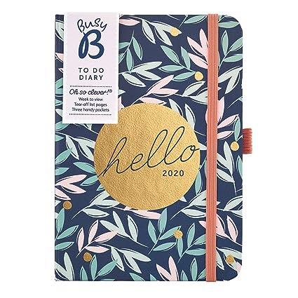 Agenda To Do Busy B - agenda semanl A6 floral con notas y bolsillos