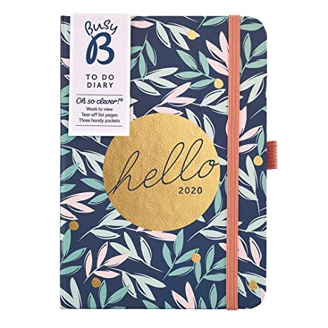 Amazon.com: Busy B 2020 to Do Diary - A6 Floral Week to View ...
