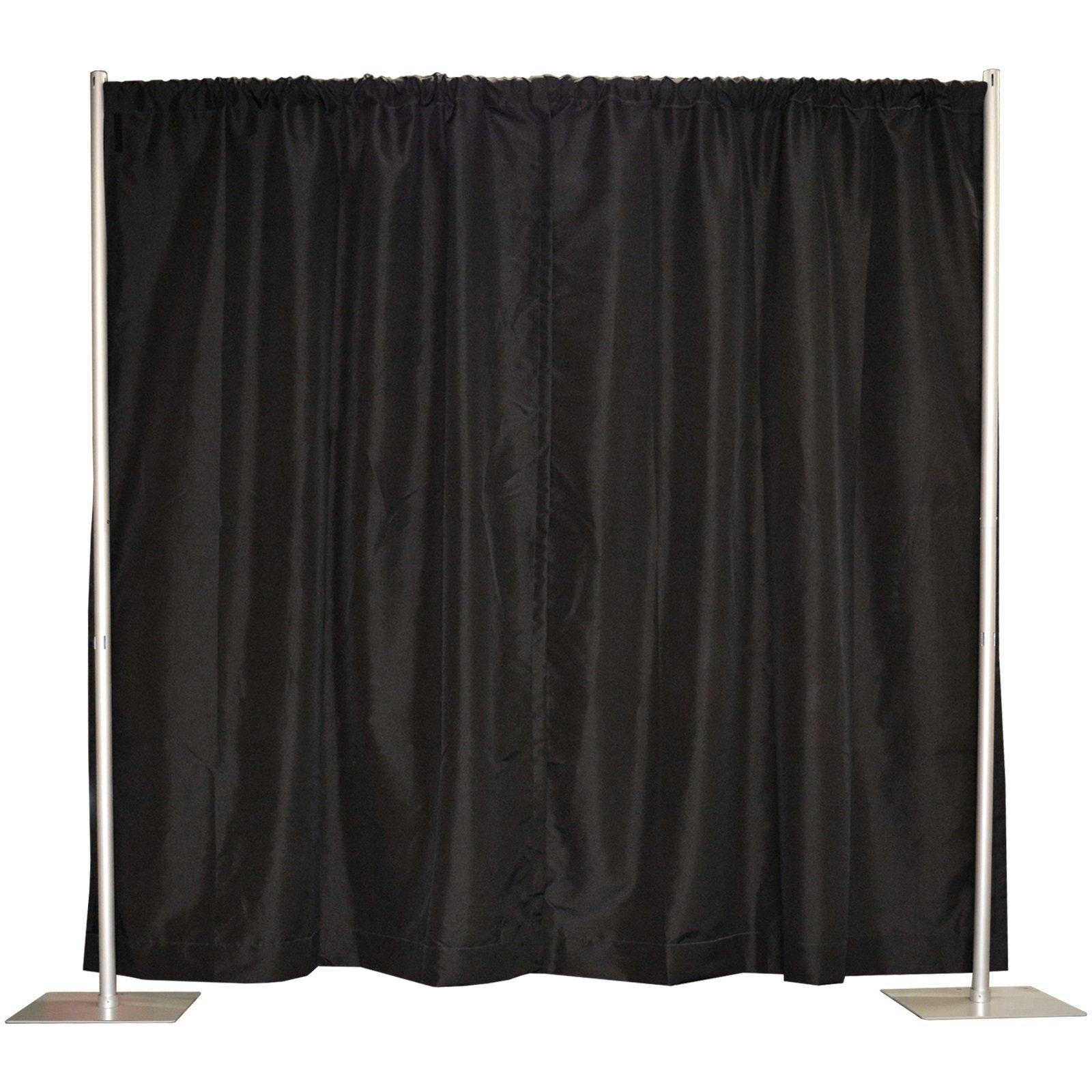 Pipe and Drape, Backdrop Kit in Premier Fabric (8' x 10' Black)
