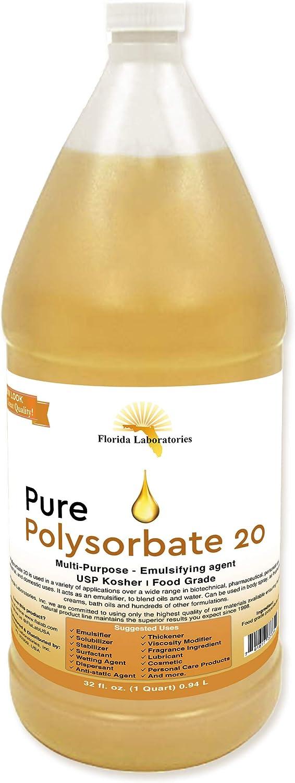 1 Bottle 32 oz Polysorbate 20 FOOD GRADE KOSHER