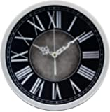 Magho Decorative Wall Clocks Battery Operated ,Non-Ticking Quiet Wall Clock,for Kitchen/Living Room/Bathroom/Garage etc.(Plastic,12')