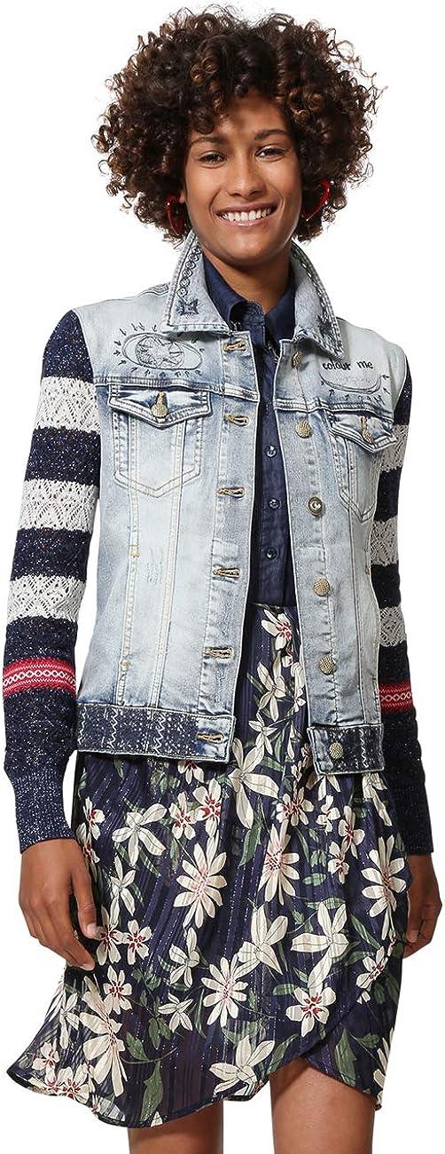 Desigual Denim and Knit Jacket Sailor Lover Chaqueta Vaquera para Mujer
