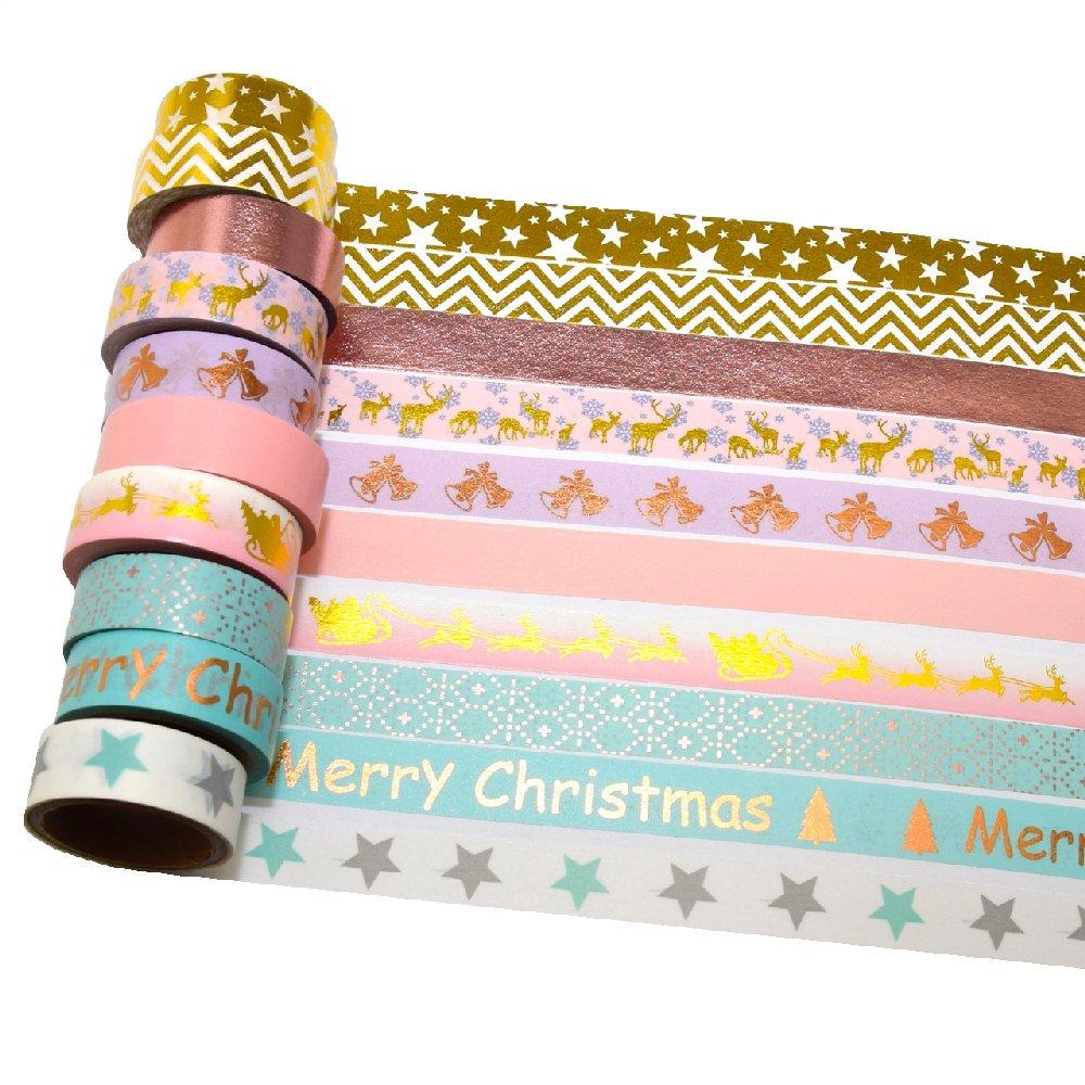 k-limit 12 Set Washi Tape Rouleaux de Ruban adhésif décoratif Masking Tape Scrapbooking DIY 9136