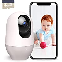 Nooie Baby Monitor with Camera, WiFi Pet Camera Indoor, 360-degree Wireless IP Baby Camera, 1080P Home Security Camera…