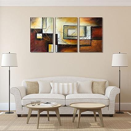 Raybre Art® Modernos Cuadros sobre Lienzo Grandes 100% Pintado a ...