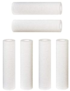 """6 pk Hydronix 10""""x2.5"""" 5 Micron Grooved Sediment Melt Blown Filters Cartridges (Compatible Replace Aqua-Pure AP110, Whirlpool WHCF-GD05, Watts FPMBG-5-975)"""