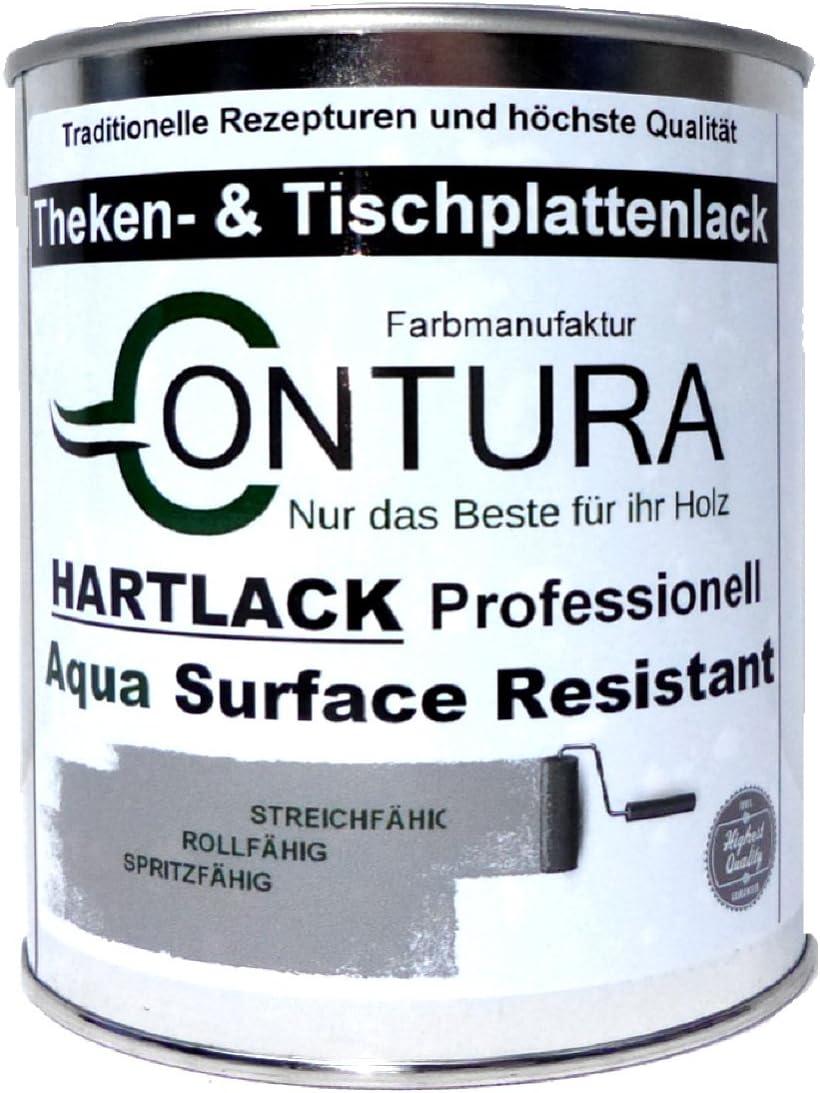 Hartlack Tischplattenlack Klarlack Universallack 35ml Lack Thekenlack  Farblos Holz Tischplatten Parkett (Seidenmatt)