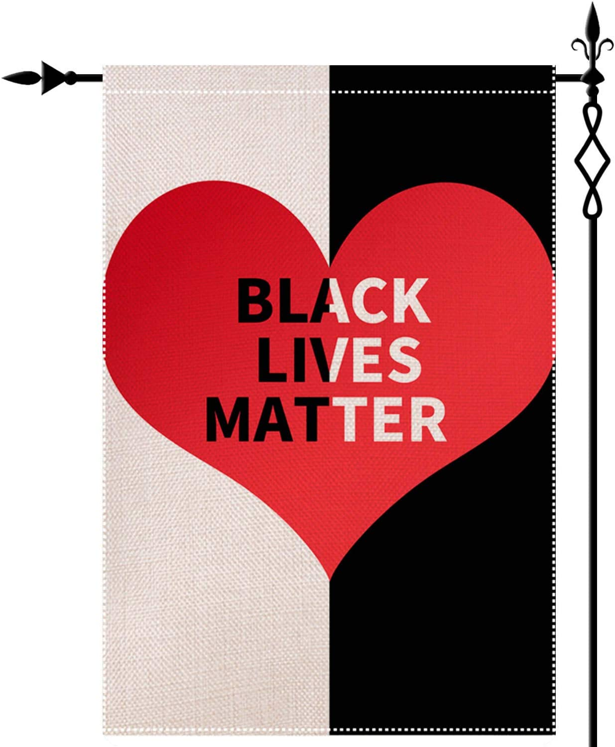 Black Lives Matter Garden Flag Double-Sided Lawn Decoration Gift House Garden Yard Banner Revolution Movement Equality Social, Thick Fabric, Small Flag Only