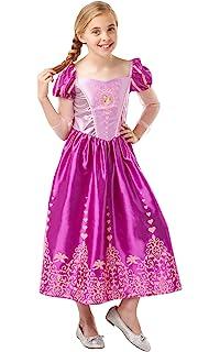Rubies 640723 - Gema oficial de Disney Princesa Rapunzel para disfraz de princesa (140 cm