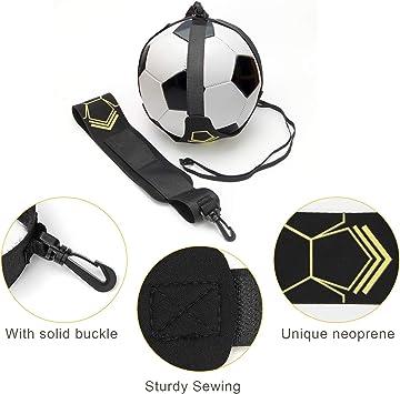 d/ébutants et adultes Canlanda Solo Football Trainer Football Kick Trainer Soccer Practice Entra/înement avec ceinture r/églable pour le football avec ceinture en n/éopr/ène pour enfants