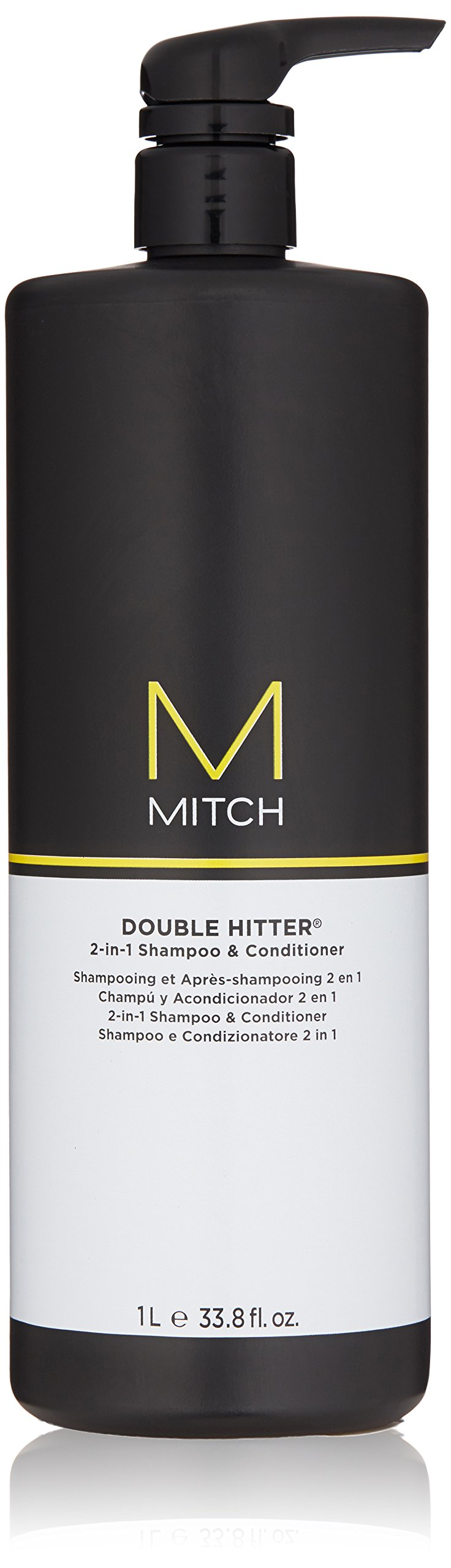 MITCH Double Hitter 2-in-1 Shampoo and Conditioner, 33.8 Fl Oz by Mitch