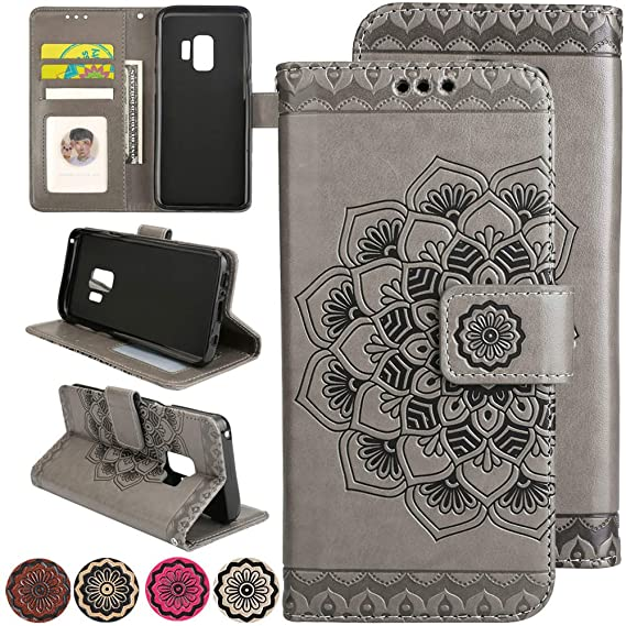 sports shoes fa923 f7267 for Samsung Galaxy S6 Flip Wallet Case,for Samsung Galaxy S6 3D Flower  Design Case,Side Fold Cash Purse Stand Leather Cover with Credit Card Slots  ...