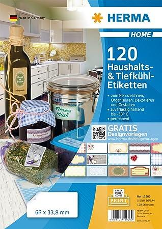 HERMA Haushalts-Etiketten Blaue Bordre