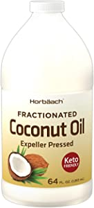 Liquid Coconut Oil for Cooking | 64 oz | Fractionated & Unflavored | Keto Friendly | Vegetarian, Non-GMO & Gluten Free | by Horbaach