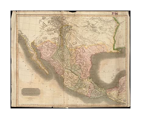 Amazoncom 1814 Map Southwest Mexico Spanish North America Relief