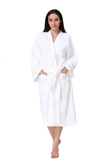Amazon.com  Acanva Women s   Men s Terry Robe Plush Cotton Spa ... d5500a6fb