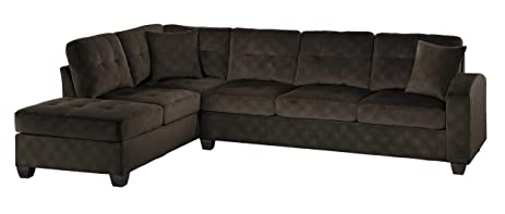 Amazoncom Homelegance 2 Piece Sectional Sofa Polyester With