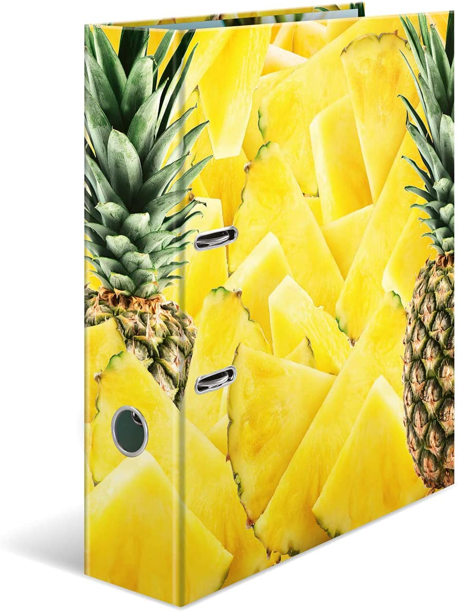 1 Folder HERMA Lever Arch File Fruits with Watermelon Motif with Inner Print 70 mm Spine A4