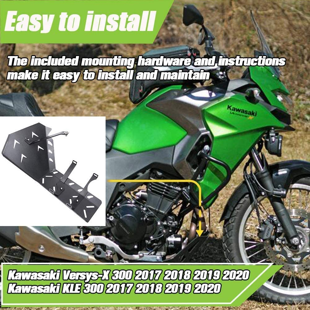AHOLAA Versys X300 Accessories Engine Skid Plate Frame Guard Protector Chassis Guard for kawasaki Versys-X 300 Versys KLE 300 2017 2018 2019 2020