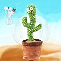 Dancing cactus, mimicking toy for kids, Recording Electronic Plush Toy for baby learning, Cactus toy dancing, shacking…