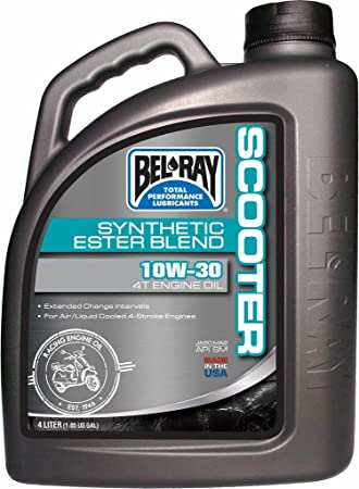 BEL RAY - 35966 : Botella 4 L Aceite Bel-Ray Motor 4T Scooter Synthetic Ester Blend 10W-30: Amazon.es: Coche y moto