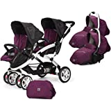 Casualplay Match 2 Stwinner - Silla paseo y accesorios, color plum