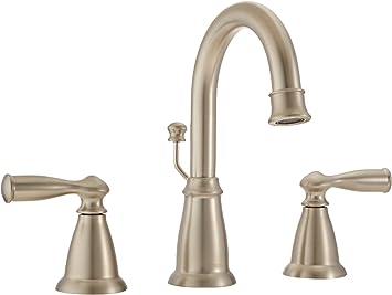 Moen Ws84924srn Banbury Two Handle High Arc Bathroom Faucet Spot Resist Brushed Nickel Amazon Com