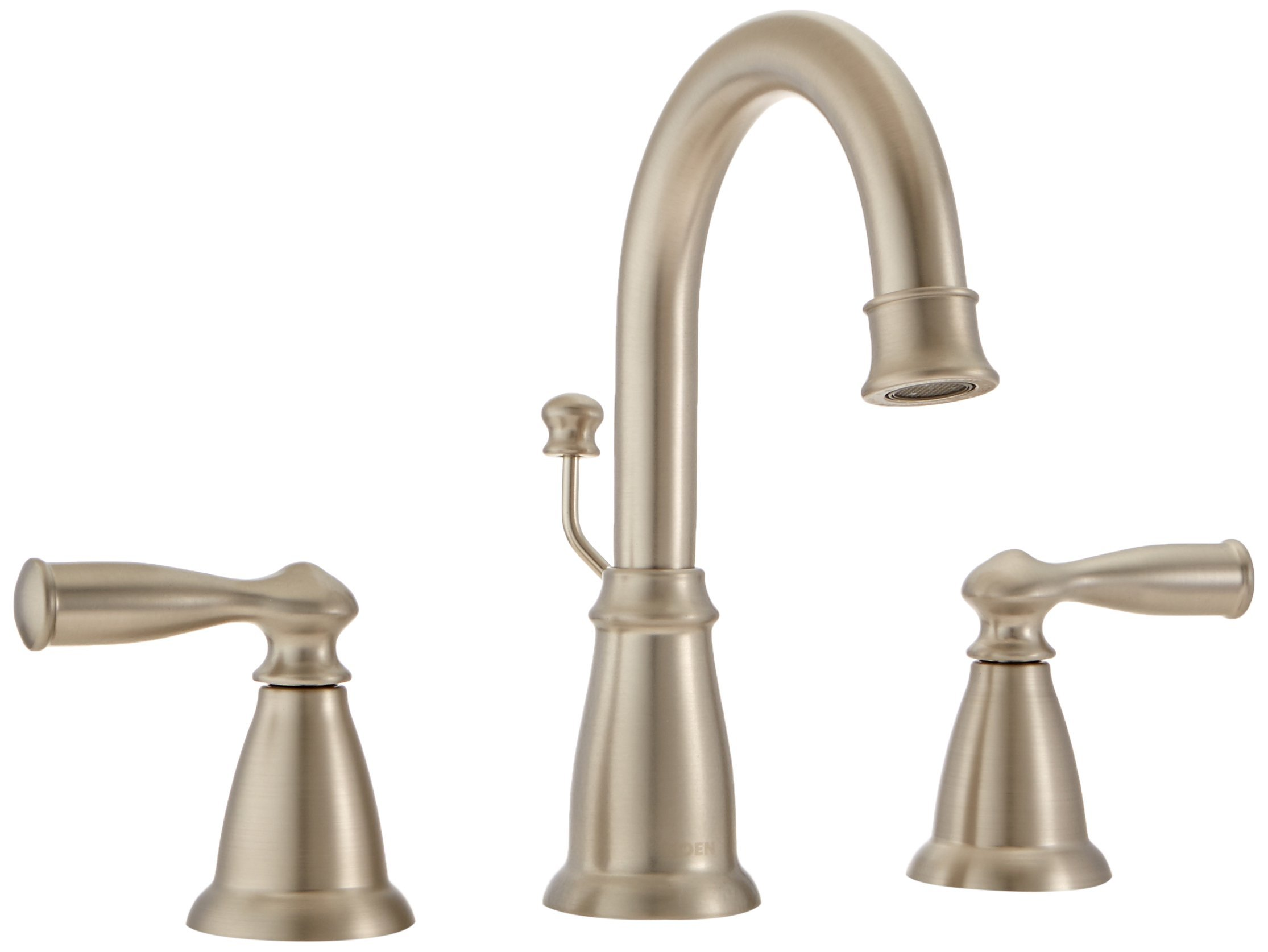Moen WS84924SRN Two-Handle High Arc Bathroom Faucet, Spot Resist Brushed Nickel