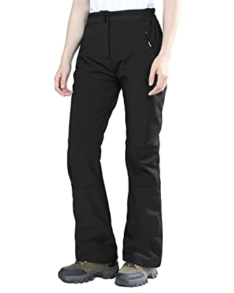 f0ff90d687 Image Unavailable. Image not available for. Color: Outdoor Ventures Women's  Sleek Waterproof Softshell Fleece Lined Ski Snow Insulated Pants ...