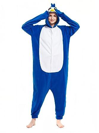 Image of: Dinosaur Kigurumi Adult Blue Penguin Onesies Rabbit Kigurumi Animal Pajamas Cosplay Costumes Party Outfit Xl Amazoncouk Clothing 2kigucom Adult Blue Penguin Onesies Rabbit Kigurumi Animal Pajamas Cosplay