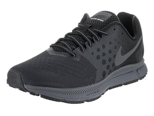 Nike Men's Zoom Span Shield Black/Mtlc Dark Grey Anthracite RunningShoe Men
