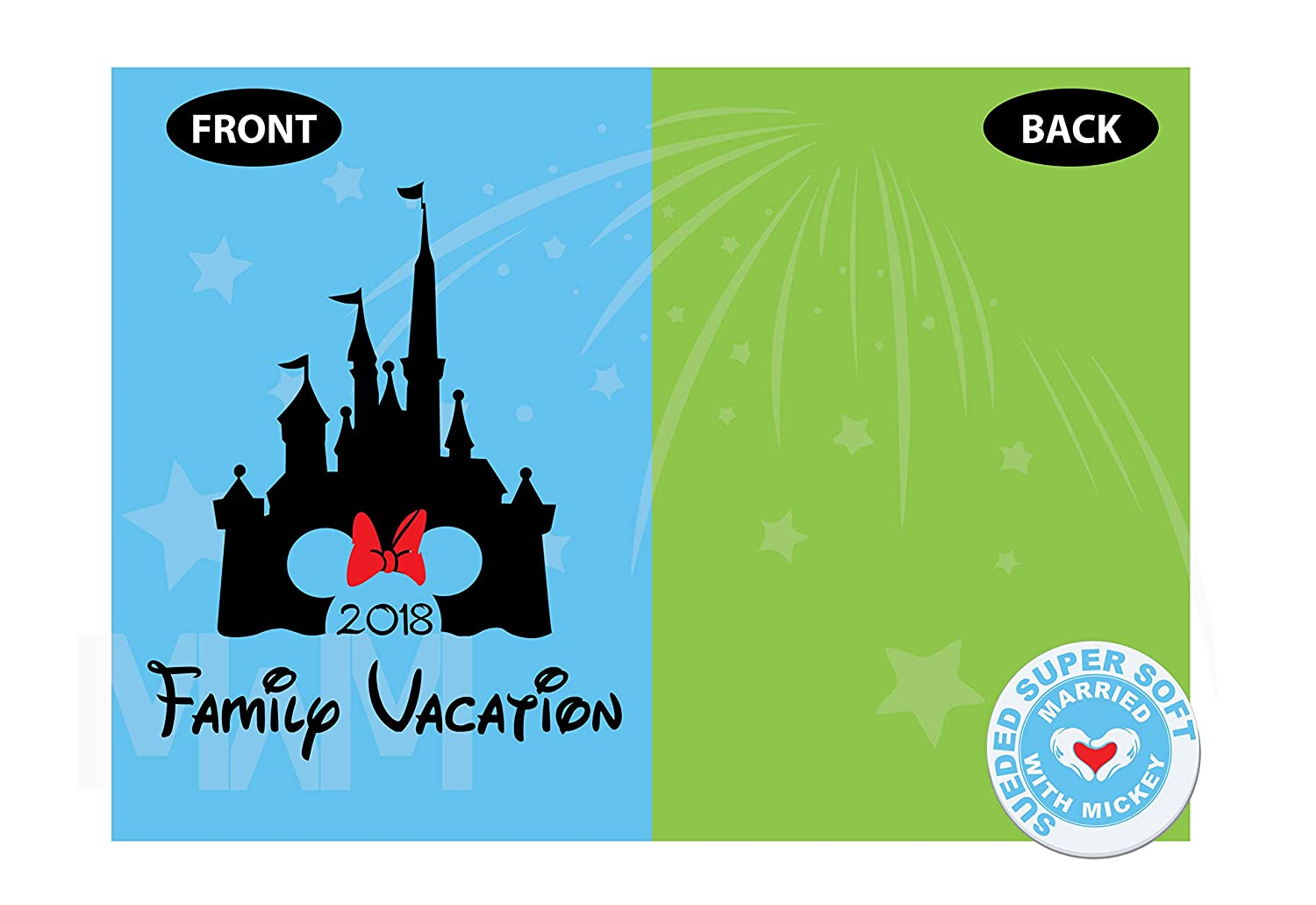Cinderella Castle Minnie Mouse Head Cute Red Bow Family Vacation 2018